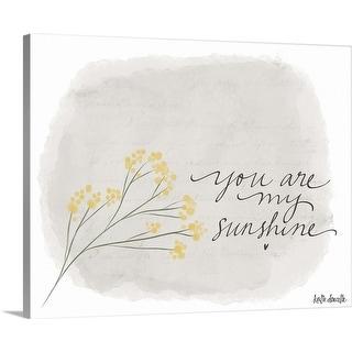 """""""Sunshine"""" Canvas Wall Art"""