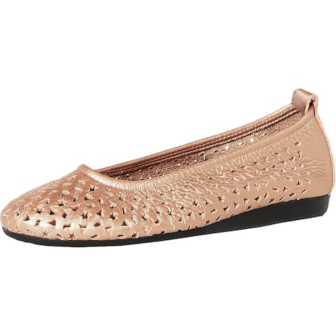 Arche Womens Lilly Ballet Flats Leather Cut-Out
