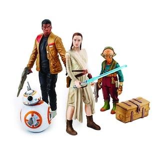 "Star Wars ""Takodana Encounter"" 3.75"" Action Figure Set: Rey, Finn, Maz, and BB-8"