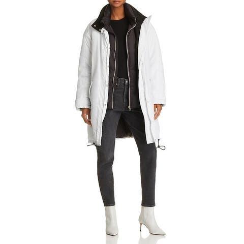 IRO Womens Anger Parka Coat Winter Down - White