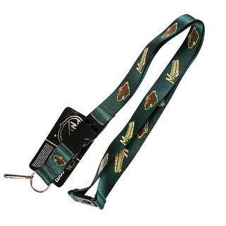 Minnesota Wild Lanyard Keychain Id Ticket Clip - Green
