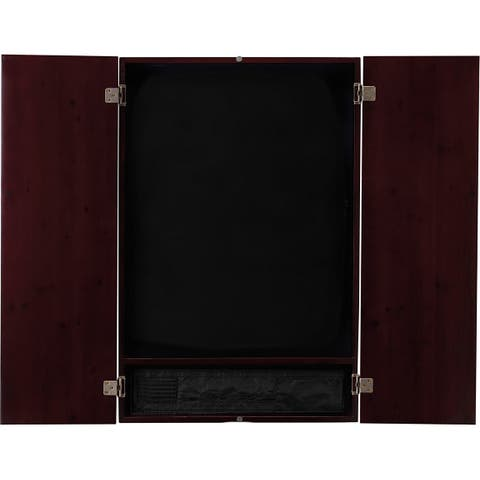 Viper Metropolitan Mahogany Finish Electronic Soft Tip Dartboard Cabinet / 40-0401