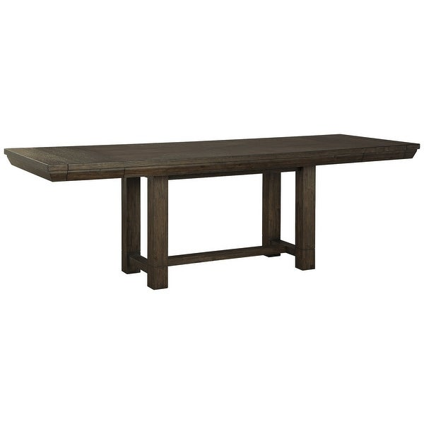 Dellbeck Casual Rectangular Dining Room Extending Table, Brown - Standard. Opens flyout.