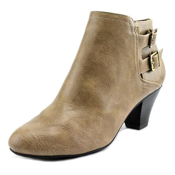 Life Stride Gabe Women Round Toe Leather Brown Bootie