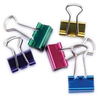 "Mini Binder Clips 1/2"" 12/Pkg-Assorted Colors"