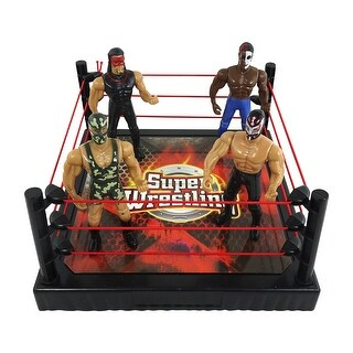 Envo Toys World Series Wrestling Toy Play Set Action Figures With Accessories
