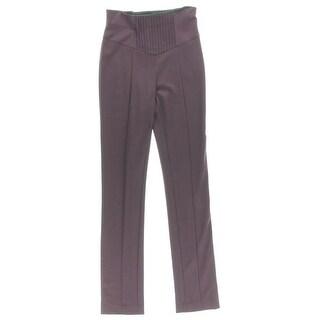 Catherine Malandrino Womens Ponte Pintuck Skinny Pants - 4