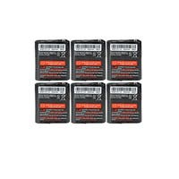Replacement For Motorola 53615 2-Way Radio Battery (650mAh, 3.6V, NiMH) - 6 Pack