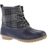 Portland Boot Company Women's Duck Duck Boot Low Navy Plaid