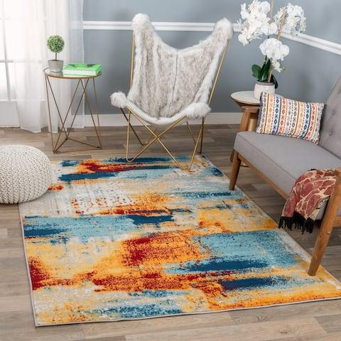 Bohemian Abstract Modern Area Rug