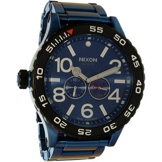 Nixon Men's Moon Raider A9472137 Blue Titanium Swiss Quartz Fashion Watch