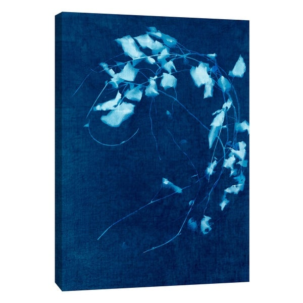 "PTM Images 9-109036 PTM Canvas Collection 10"" x 8"" - ""Cyanotype Plant 4"" Giclee Flowers Art Print on Canvas"