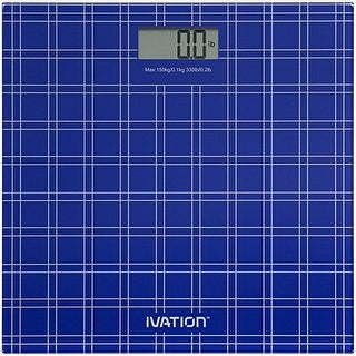 "Digital Bathroom/Body Weight Scale ""Step-On"" Technology with Large LCD Display (Option: Blue)"