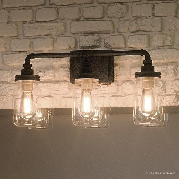 "shabby chic bathroom lighting shop luxury industrial bathroom light 11 quot h x 21 5 quot w with 20337 | Luxury Industrial Bathroom Light%2C 11""H x 21.5""W%2C with Shabby Chic Style%2C Aged Pipe Design%2CAntique Black Finish"