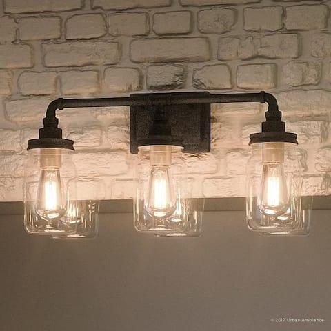 Luxury Industrial Antique Black Bathroom Light (21.5 in.) - 21.5