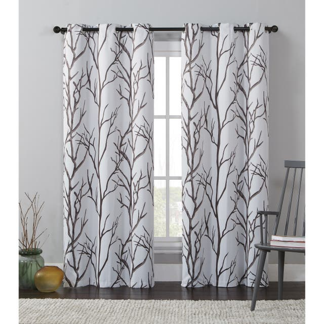 """VCNY Home Kingdom Branch Blackout Curtain Panel - 42"""" x 84"""" - Beige"""