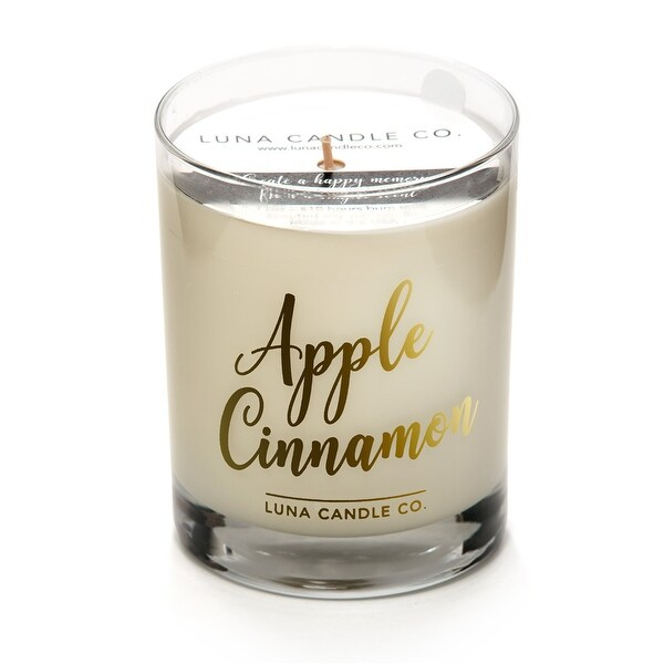 Strong Scented Apple Cinnamon Candle, Soy Wax, Long Burn