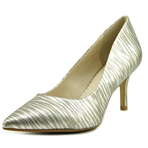 Alfani Jeules Women Pointed Toe Leather Silver Heels