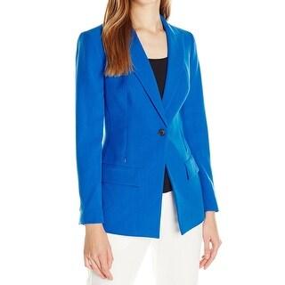 Anne Klein NEW Blue Women's Size 10 Single-Button Blazer Jacket