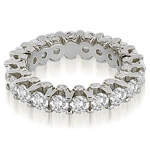 4.00 cttw. 14K White Gold Round Diamond Eternity Ring