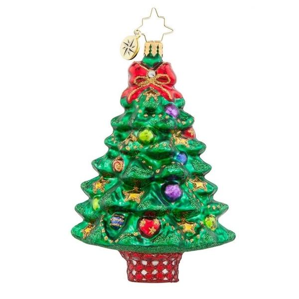 Christopher Radko Glass Sprightly Spruce Christmas Tree Ornament #1017766 - green