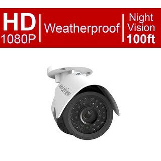 LaView 1080P IP 2MP High Resolution, Day and Night, Indoor/Outdoor, White Bullet Security Camera