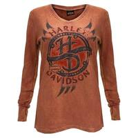 Harley-Davidson Women's Chrome Vengeance Thermal Wash Long Sleeve Tee 5N0S-HF6H