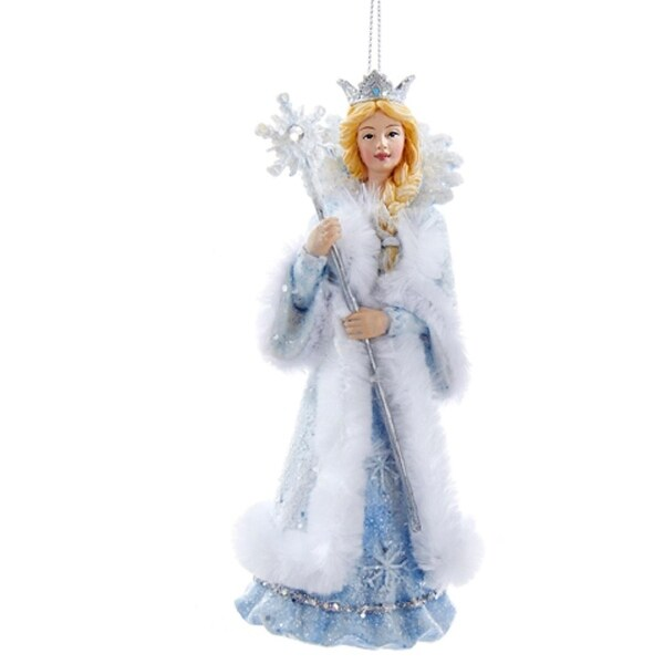 "5"" Ice Palace Blue, White and Silver Snow Queen Decorative Christmas Ornament"