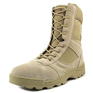 Ridge CALEB Men W Round Toe Synthetic Tan Combat Boot