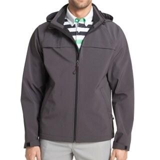 IZOD NEW Charcoal Gray Mens Size 2XL Windbreaker Full-Zip Jacket