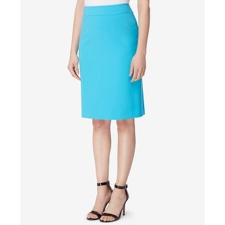 Tahari by ASL Blue Womens Size 4P Petite Straight Pencil Skirt