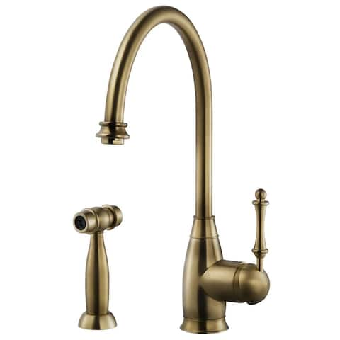 Houzer CHASS-682 Charlotte Traditional Kitchen Faucet with Sidespray and CeraDox Lifetime Technology -