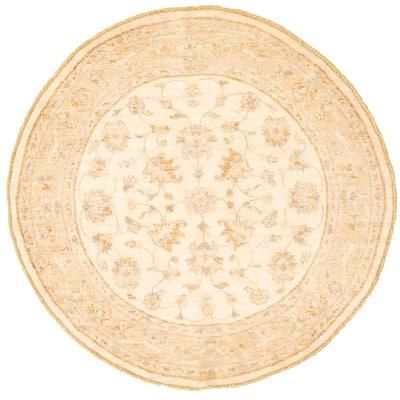 Hand-knotted Chobi Finest Cream Wool Rug