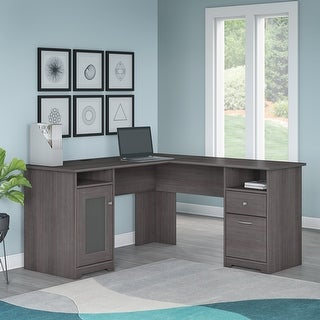 Copper Grove Burgas Heather Grey L-shaped Computer Desk