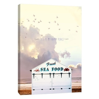 "PTM Images 9-109103  PTM Canvas Collection 10"" x 8"" - ""Tiny Home Sentiments 1"" Giclee Crab Shack Art Print on Canvas"