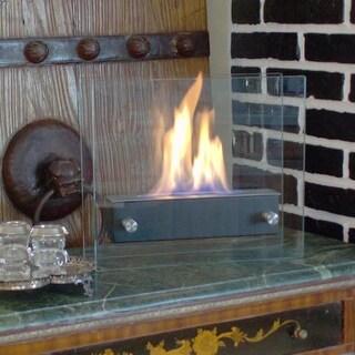 Nu Flame Irradia Noir Portable Indoor Outdoor Ethanol Fireplace
