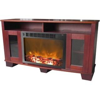 Cambridge Savona CAM6022-1MAH Fireplace Mantel with Electronic Fireplace Insert, Mahogany