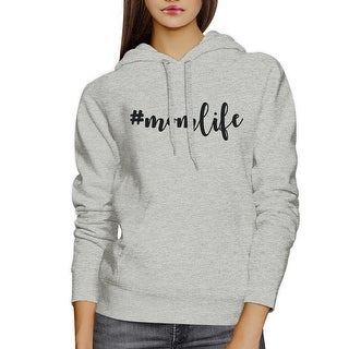Momlife Gray Cute Design Fleece Hoodie Unique Birthday Gift For Mom