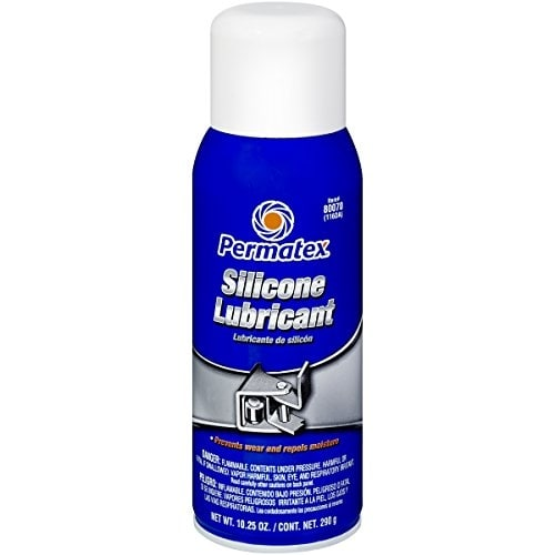 Permatex 80070 Silicone Spray Lubricant, 10.25 oz. net Aeros - Clear