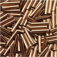 Toho Bugle Tube Beads Size 3 2x9mm Bronze 10 Grams