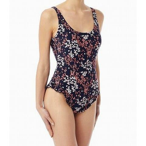 Michael Michael Kors Blue Womens Size 6 Floral One-Piece Swimsuit
