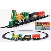 19-Piece Battery Operated Lighted & Animated Christmas Express Train Set with Sound