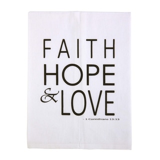 With Christian Blessings Bible Verse Printed Tea Towel with Faith