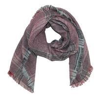 CTM® Women's Basic Plaid Blanket Scarf Wrap - One size