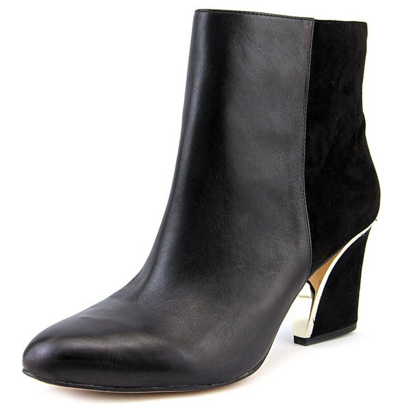 INC International Concepts Harpp Women Round Toe Leather Ankle Boot