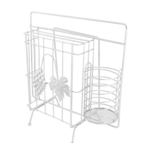 Kitchen Grape Pattern Cook Chopper Storage Cage Rack Holder Organizer