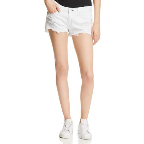 Rag & Bone Womens Cutoff Shorts Denim Distressed
