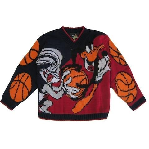 Warner Bros. Little Boys Bugs Bunny Daffy Duck Knit Pattern Sweater 4