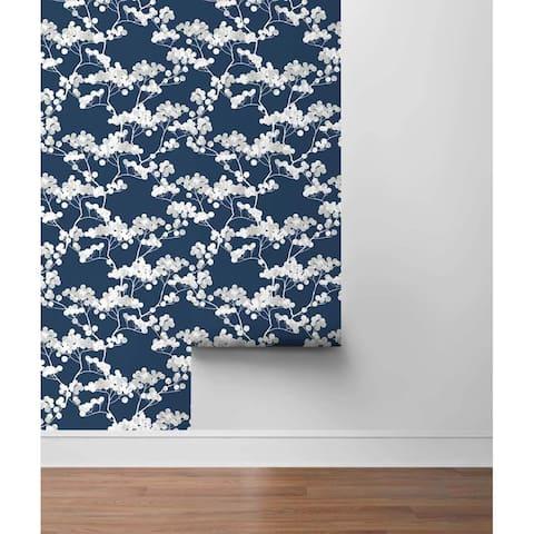 "Portola, Cyprus Blossom 18' x 20.5"" Peel & Stick Wallpaper Roll"