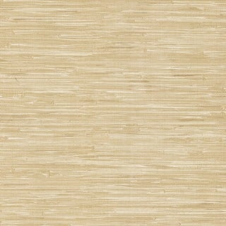 Brewster 412-44143 Lepeka Beige Grasscloth Wallpaper - N/A